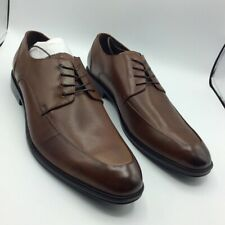 Kenneth Cole Reaction Mens Zac Oxfords Shoes Cognac Brown Lace Up Perforated 13