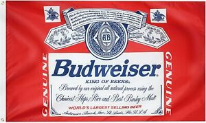 Budweiser Beer Flag 3x5FT Man Cave Bar Restaurant Advertising Decor Party Dorm