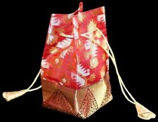 NEW Zari Brocade Indian Ethnic Drawstring Potli Bag (Handbag)