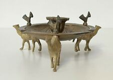 Vintage Brass Candle Holder Ashtray with Camels & Birds - Middle East Design