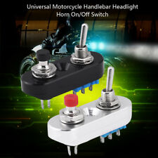 CNC Motorcycle Handlebar Control Turn Signal Light ON-OFF Horn Button Switch BT