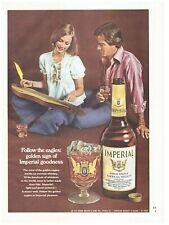 Original 1974 Imperial Hiram Walker Whiskey Vintage Print Ad- Follow the Eagles