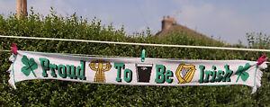 Scarf -  Proud To Be Irish /St Patrick's Day - Ireland /Saint 100% Acrylic