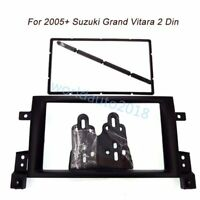 Car Stereo Radio Fascia Dash Panel 2 Din Frame Kit For Suzuki Grand Vitara 2005+