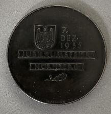 100 JAHRE EISENBAHNEN, 1935, EISERNE MEDAILLE, VON BRUNO EYERMANN
