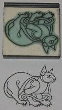 Celtic Cat design Rubber Stamp by Amazing Arts