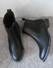 Koi Black Stud Trim Flat Chelsea Ankle Boots Size UK 6 EU 39