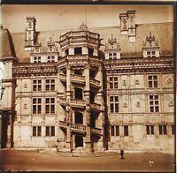 Château Da Blois Francia Placca Da Lente Stereo Positive Vintage