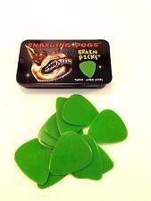 Snarling Dog Guitar Picks Tin  Brain Picks  12 Picks With Tin  .53mm  Green