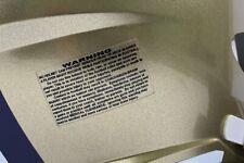 Multi color American Football Helm Warnhinweis Aufkleber Warning Decal