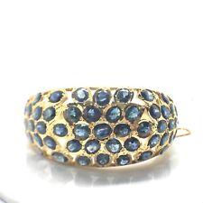 14k Yellow Gold Natural Sapphire Bangle