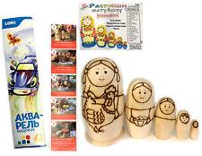 Matryoshka Toy Paint Your Own Matryoshka nesting Dolls W Brush Paint Gift Kids