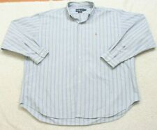 Ralph Lauren Blaire Blue White Green Mans Cotton Long Sleeve Dress Shirt XXL A15