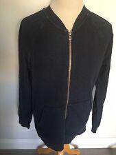 Hugo Boss Mens Blue Zip Front Sweatshirt Style Jacket Size L. Good Condition.