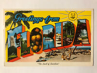 The Land of Sunshine, Greetings from Florida FL Postcard - March 2, 1961