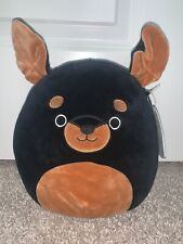 Squishmallow Mateo The Rottweiler Dog 8 Inch Kellytoy Puppy Collection New