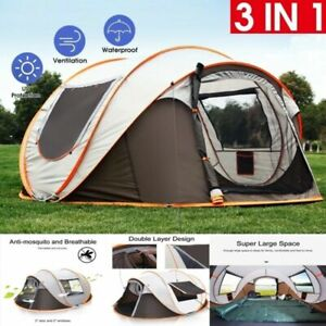 Waterproof Automatic 4-6 People Outdoor Instant Popup Tent Camping Hiking
