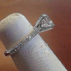 2.30 Ct Diamond Engagement Ring Solid 14k White Gold Diamond Ring Round Cut