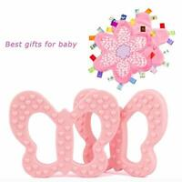Pink Butterfly Chewable Teether And Plush Flower Taggies Security Blanket