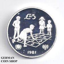 5 Pounds Liri 1981 Malta Proof Silver - PP Silber - Jahr des Kindes