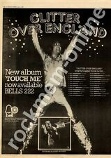 Gary Glitter Touch Me BELLS 222 Sheffield City Hall MM3 LP/Tour advert 1973