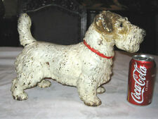Antique Hubley Cast Iron Sealyham Terrier Dog Art Statue Home Garden Door Stop