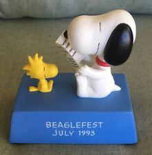 Super Rare! Peanuts Snoopy Beaglefest July 1993 Willitts Music Box