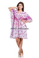 Women's Kaftan Indian Maxi Dress Ombre Mandala Print Hippie Bohemian Plus Size