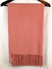 "Williams Sonoma 100% Cashmere Throw Blanket Blush Pink 50x65"" NEW"