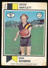 1974 Scanlens No. 40 Kevin Bartlett Richmond Tigers  card ++++