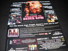 DEATH ROW Promo Display Ad THE FINAL WORD ON HIP-HOP Suge Knight doesn't want...