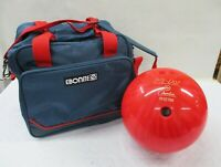 Red Lite Dot by Columbia 12 lb Bowling Ball Ebonite Shoulder Carry Case Bag (AL)