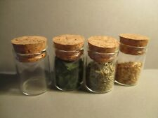 2 DOLLS HOUSE MINIATURE FILL YOURSELF GLASS JARS LARGE