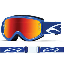 SMITH FUEL V1 MAX MIRROR MOTOCROSS MX BIKE GOGGLES BLUE with RED MIRROR LENS