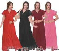 Satin Patternless Everyday Sleepwear for Women