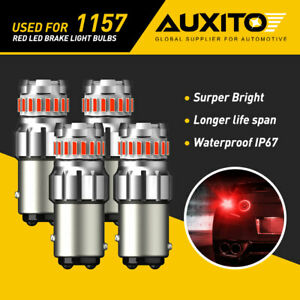 4X AUXITO 1157 2057 2357 BAY15D LED Brake Tail Parking Light Bulbs Pure Red