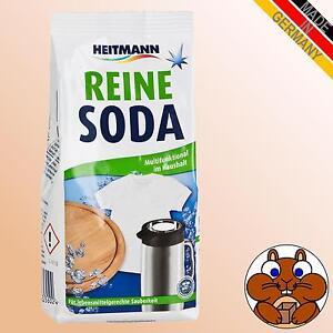 HEITMANN pure Reine Soda 500g natürliche Haushaltssoda kalzinierte Waschsoda