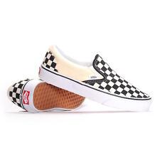 Vans Classic Slip-On (Black & White Checkerboard/White) Men's Skate Shoes