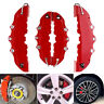 4x 3D Red Auto Car Disc Brake Caliper Covers Front & Rear Wheels Accessories Kit
