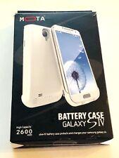 MOTA Samsung Galaxy S4 IV Extended Battery Case White 2600mAh NEW!