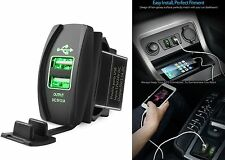 Mictuning Green Universal Rocker Style Car USB Charger Socket New Free Shipping