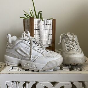 FILA Disruptor 2 Premium White Women's Running Shoes Sneakers Size 7 US Chunky