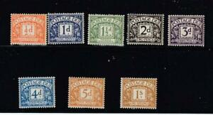 GB VF-MLH POSTAGE DUES TO 1/2d to1sh