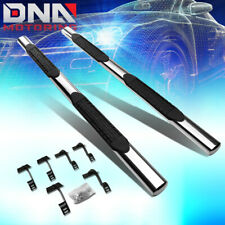"""FOR 2015-2020 FORD F-150/SUPER DUTY CREW CHROME 4""""SIDE STEP BAR RUNNING BOARDS"""