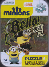 Jigsaw Puzzle Tin DESPICABLE ME MINIONS Collectible Reusable Travel 50pc 5x7""