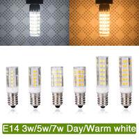 E14 3W 5W 7W LED Ampoule LED Maïs Lampe Capsule blanc chaud Remplacer halogène