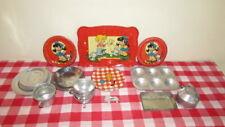 Vintage Toy Dishes (Metal) 22 Kitchen Pieces