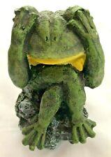 """Green Humor 5.5"""" Frog Figurine Bank"""