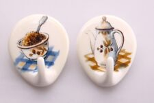 De Plastik Porzellan Effekt Küche Sortiment 6 Teilig Klebhaken Handtuchhaken