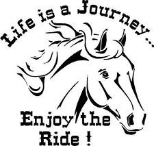 6''x 8'' 'life is a Journey Enjoy the Ride ! sticker (available in vinyl colors)